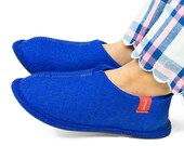 Felt Slippers - Blue or Red