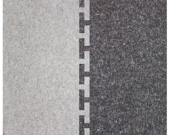 "Wool Felt Connect Area Rug - Natural Gray and Dark Gray, 4 feet x 4 feet x 1/8"", Felt Rug"