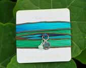 Anchor Jewelry, Silk Wrap Bracelet, Nautical Jewelry, Handmade in America, Boho Beach Jewelry