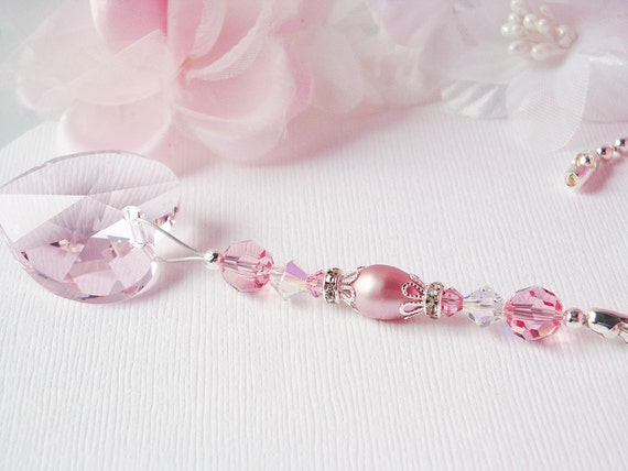 Ceiling Fan Pull Chain Pink Little Girls Room Nursery Decor Swarovski Crystal Light Pulls Hanging Crystal