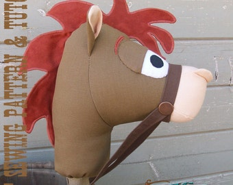 Stick Horse Sewing Pattern and Tutorial Rustic Horseshoe's Sheriff's Posse Collection Stick Horse Hobby Horse