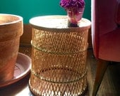 Vintage Wicker Plant Stand Planter Basket Storage Umbrella