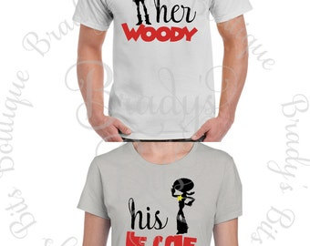 Toy Story Inspired - His Jessie  - Her Woody Shirts