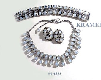 FREE SHIP Price Lowered!   Kramer Givre Blue 3 Piece Parure (4-4822)