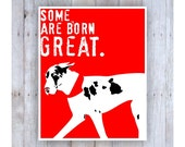 Great Dane Art, Great Dane Gifts, Great Dane Sign, Dog Decor, Shakespeare Quote, Dog Poster, Dog Wall Art, Dog Wall Decor, Red Art