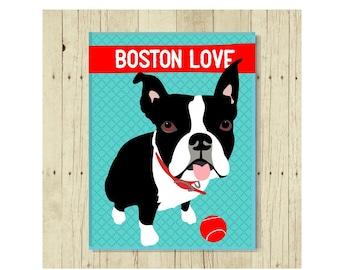 Boston Terrier Magnet, Boston Terrier Dog, Boston Terrier Gift, Dog Lover Gift, Boston Terrier Art, Black and White Dog
