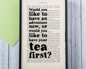 Peter Pan Gifts - Travel Gift - Kitchen Wall Art - Tea Lover Gift - Graduation Gift - Would You Like To Have An Adventure Now - Framed Art