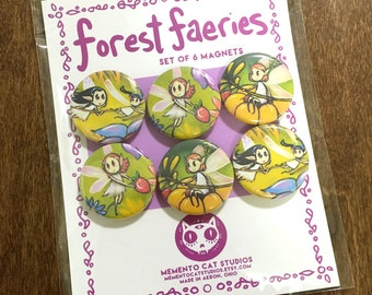 forest faeries magnets - set of 6