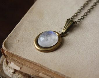 Moonstone Necklace - Bridesmaid Moonstone Necklace - Simple Moonstone Necklace