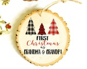 Pregnancy Announcement - Pregnancy Reveal - Granparents Gift - Baby Ornament - XMAS049