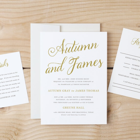 Wedding Invitation Templates: Instant DOWNLOAD Printable Wedding Invitation Template