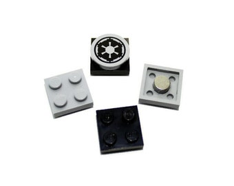 Geek Magnet Set made from LEGO® Pieces and Star Wars Tile, Locker Magnets, Imperial Cog Magnet - Perfect for LEGO® Themed Party