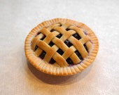 polymer Clay Blueberry Pie Magnet, Food Decor, Food Magnet