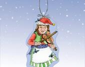Ellie Plays the Fiddle Paper Ornament
