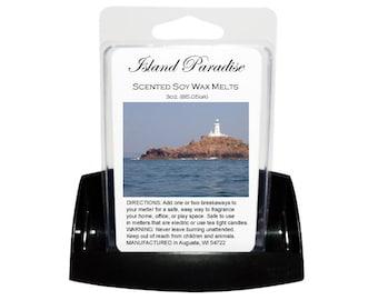 ISLAND PARADISE Soy Melts // Wax Tarts // Soy Tarts // Candle Tarts // Melting Tarts // Scented Tarts // Dye Free