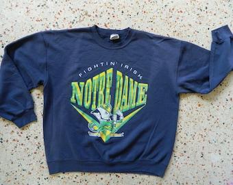 Notre Dame Fighting Irish 1980s vintage sweatshirt - blue size large