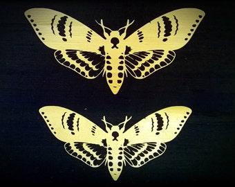 Death's Head Moth Underbust Steel Boned Corset.
