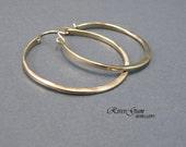 Large Gold Hoop Earrings, Hoop Earrings, 12 Gauge Gold Filled Wire, Gold Hoop Earrings, Gold Earrings, Large Hoop Earrings, Hammered Hoops