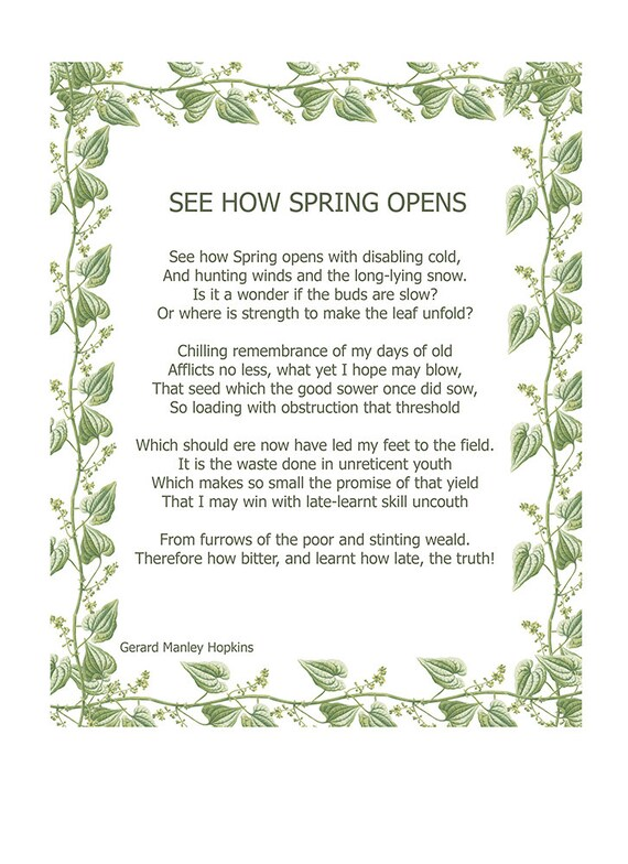 rhythm and dictions gerard manley hopkins spring and fall
