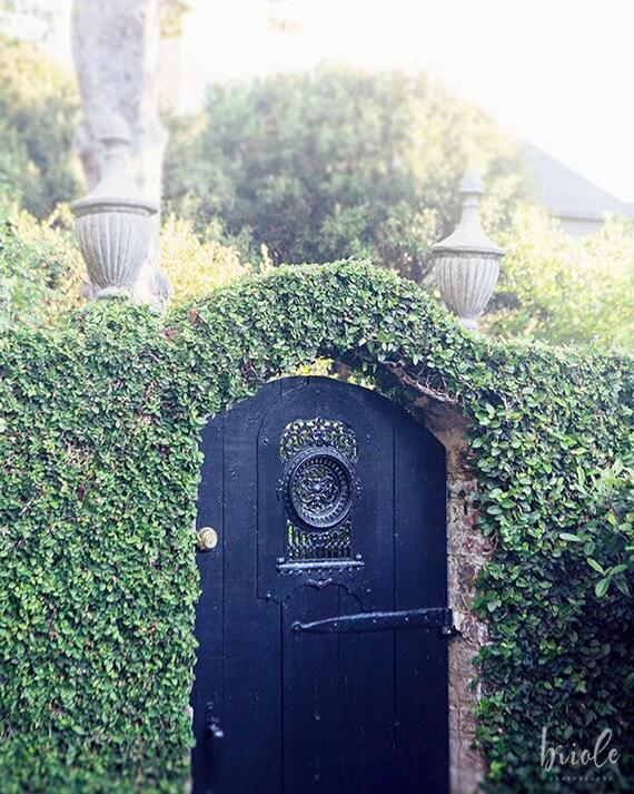 Black Gate Wall Decor : Black garden gate charleston south carolina photography by