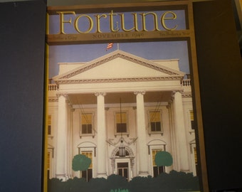 Fortune Magazine cover - The White House - November 1946 - election year issue  - 1940s classic - excellent condition - gift for politicians