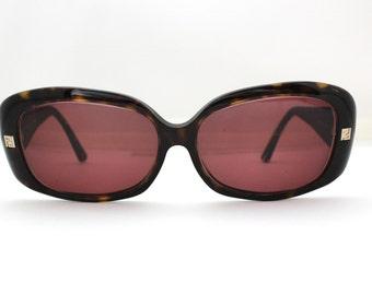 90s Fendi Sunglasses Women's Vintage 1990's Tortoiseshell Frames Made in Italy