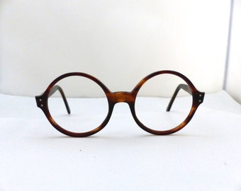Round lens Eyeglasses  1960s Mad Men Era /Mod  Optical frames SRO brand USA