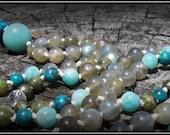 Amazonite Mala, Turquoise...