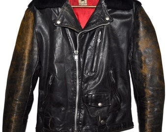 Vintage 1950s 50s INDIAN MOTORCYCLES Sportswear Leather Ranger Jacket Biker Extremely Rare