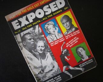 Exposed Magazine June 1957 Vol. 2 No. 15 Vintage Gossip Periodical
