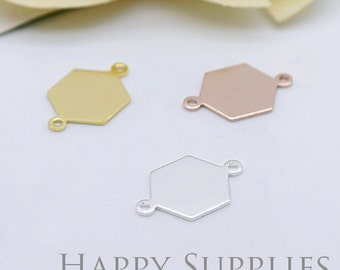 High Quality Hexagon Pendant Charms / Connector with a Two Hole (ZG199)
