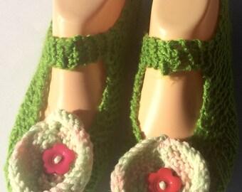 Slipper Socks  - Green