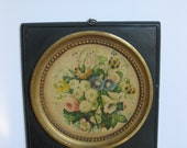 Cottage Chic Floral Lithograph Wall Plaque