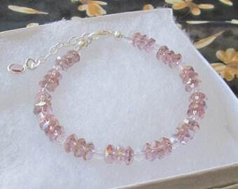 Light Amethyst Crystal Bracelet - June Birthstone Bracelet - June Graduation Gift - Amethyst Birthday Gift