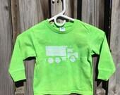Kids Truck Shirt (4T), Dump Truck Shirt, Kids Truck Shirt, Boys Dump Truck Shirt, Boys Truck Shirt, Girls Truck Shirt, Green Truck