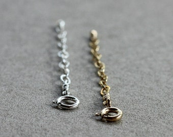 Necklace Extenders - 14K Goldfilled or 925 Sterling Silver- Add-On item for Bijouxbydesif pieces only