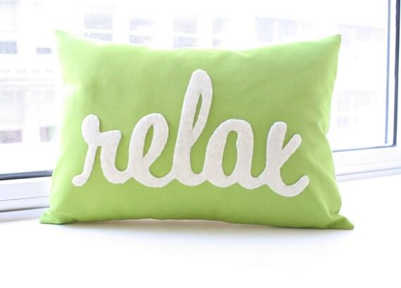 Relax Pillow Decorative Pillow Custom Relax Pillow Custom