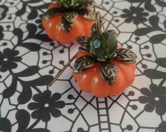 Pumpkin Earrings,Jack-O Lantern,Halloween,Fall,Holiday,Cosplay