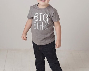 heather grey big brother t-shirt | big bro shirt | brother shirt | family photos | new brother | big brother gift | pregnancy announcement