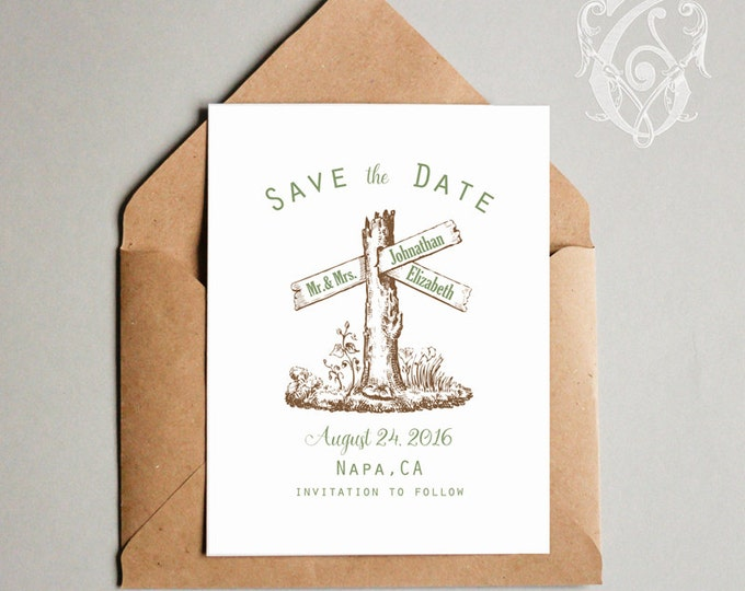 Forest Editable Wedding Save the Date and Family Established Printable Poster Set DIY 2 PsD files PNG clipart