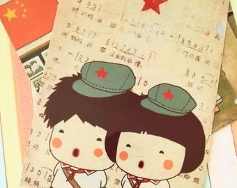 Sing Childhood memories cartoon A4 File Folder