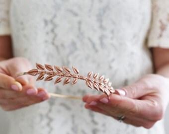 Rose Gold Little Leaves - A Simple Leaf Headband