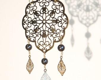 Alhambra Necklace - Hematite