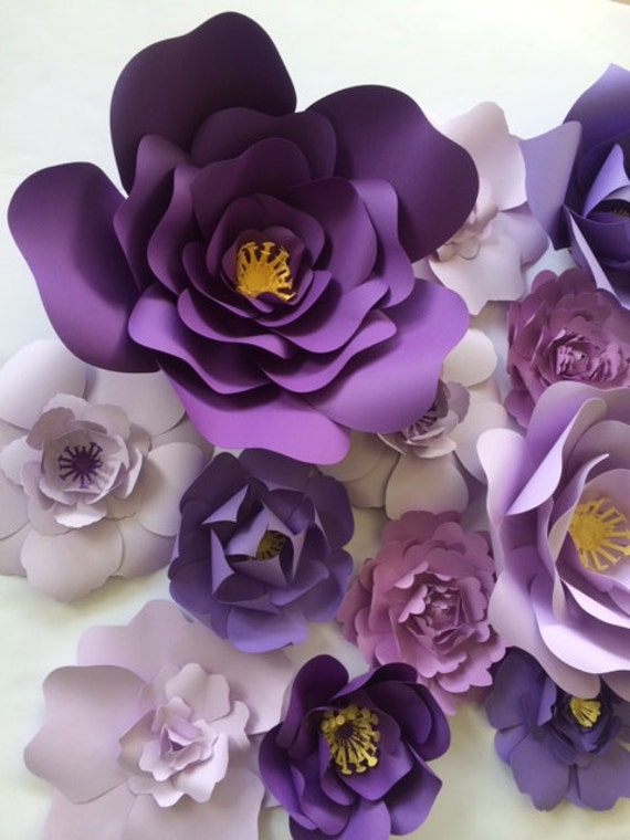 paper flower wall decor ready to ship large paper flower