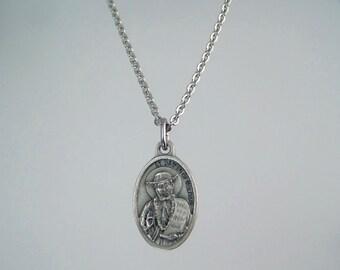 Saint Damien of Molokai Saint Joseph de Veuster Medal Necklace