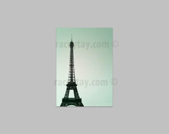 Mint Decor, Paris Wall Art, Black and Mint, Eiffel Tower Print, Paris Decor, Eiffel Tower Decor