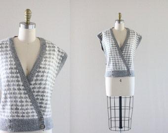 S A L E nos lambs wool + angora sweater vest