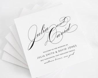 Wedding Program, Wedding Programs, Vintage Glam Design -  Purchase this Deposit to Get Started