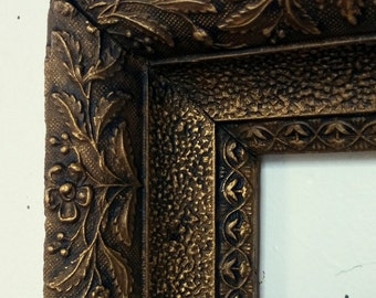 Large Antique Gold Frame, French Provincial, Baroque, Bathroom Mirror Frame, Large Wood Frame, Antique Gesso, Distressed Frame