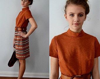 Vintage Dress, Vintage Dresses, 1960s Dress, Vicky Vaughn Junior Dresss, Fall Dress, Casual, Career, Striped Dress, Dresses